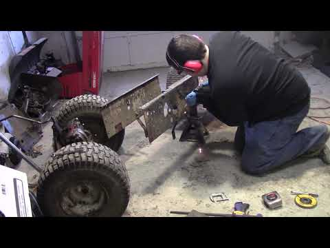 Craftsmen Tractor to Go Kart Conversion - Part 6 - Enclosing the frame