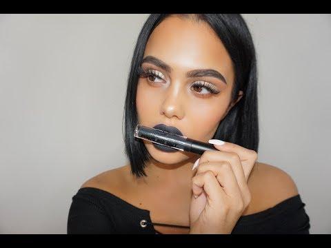Dark Lip Tutorial with Matte Liquid Lip Paint | Sayan Yildiz