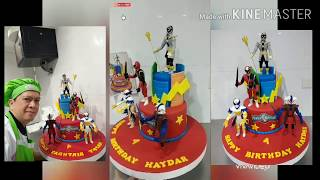 How to make Power Rangers 3D characters Cake Topper Birthday cake