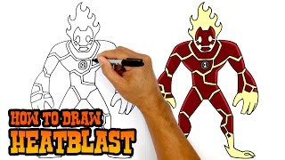 How to Draw Heatblast | Ben 10
