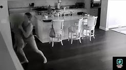 Babysitter Hears Noise Upstairs So Dad Checks Hidden Camera And Captures A Nightmare In His Kitchen