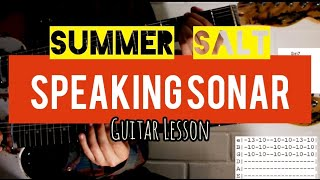 Speaking Sonar by Summer Salt with TABS
