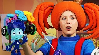 Поиграйка с Царевной - Фикси-конструктор - Фиксики и Царевна собирают машинку - Видео с игрушками