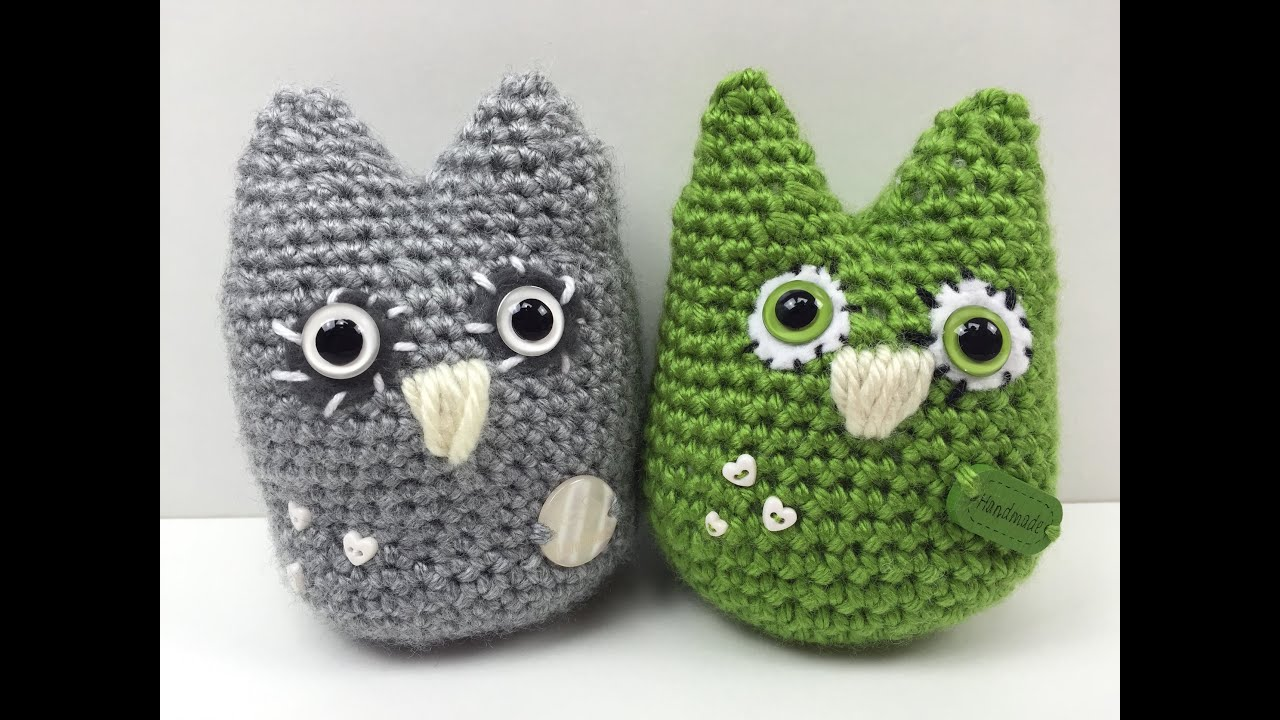 Eule häkeln: schmU-HUsiger UHU - how to crochet an owl - YouTube
