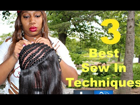 full sew in weave hair tutorial 3 techniques youtube