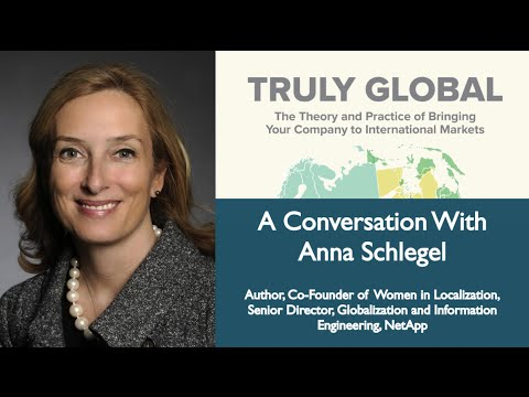 How to go and be Truly Global - A Conversation with Anna Schlegel