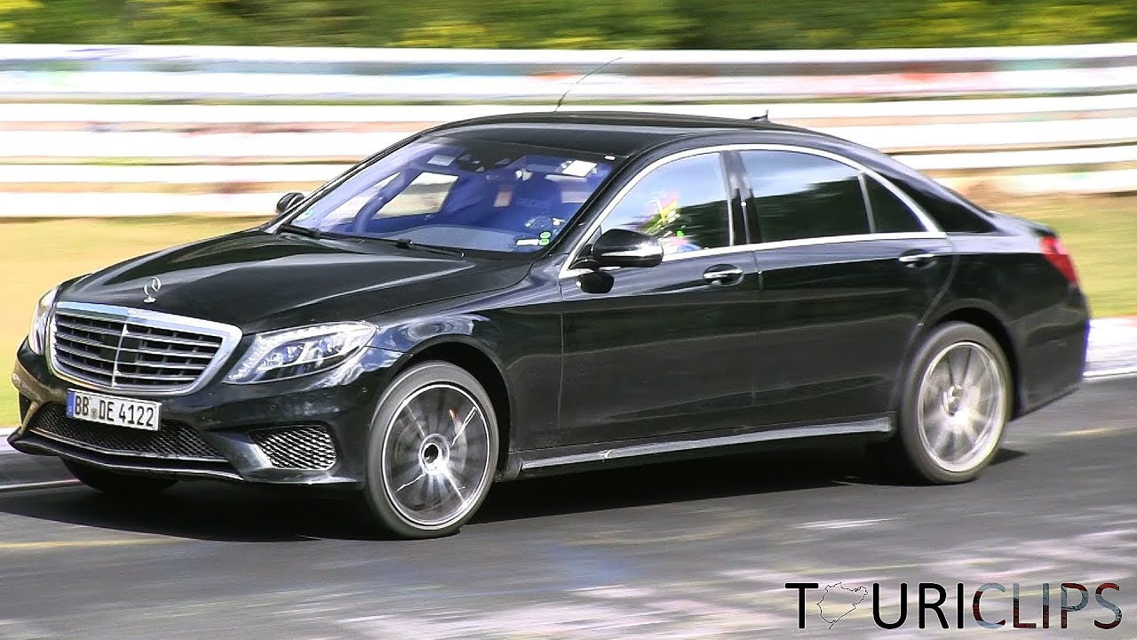 2014 Mercedes-Benz S65 AMG W222 testing hard at the Nürburgring ...