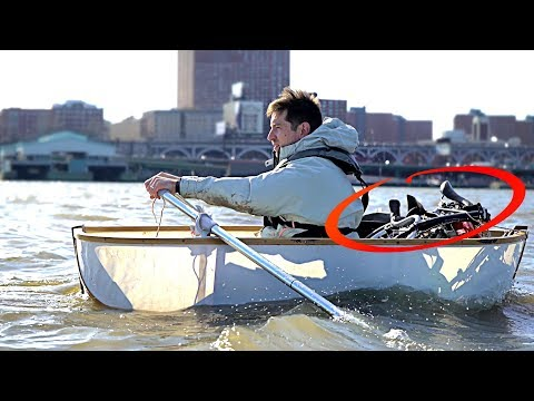 This Engineer Commutes From NJ to Manhattan by Self-Built, Self-Powered Folding Boat and Folding Bicycle