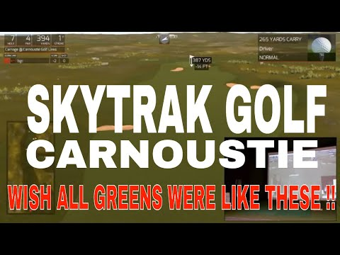 FUN GOLF SkyTrak Launch Monitor & TGC Golf Simulator at Carnoustie