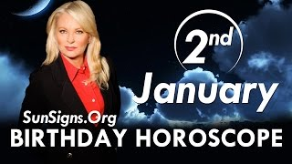 Birthday January 2nd Horoscope Personality Zodiac Sign Capricorn Astrology
