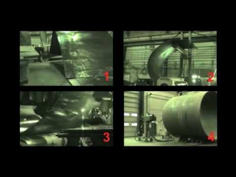 Производство обсадных труб большого диаметра