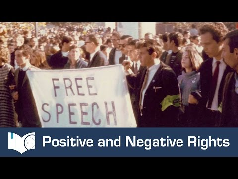Positive and Negative Rights