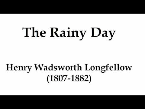 """""""The Rainy Day"""" by Henry Wadsworth Longfellow (read by Tom O'Bedlam)"""