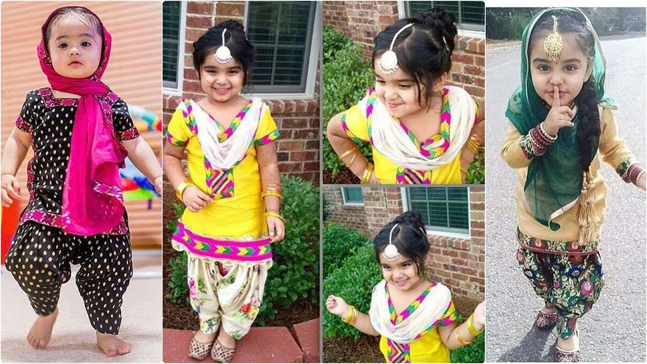 5e6fe1fa9 latest baby girl punjabi style patiala suit - YouTube