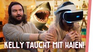 Kelly taucht mit Haien – VR Sharkattack! | GMI