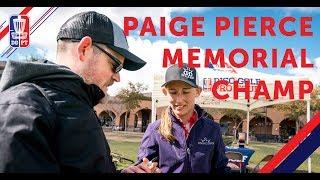 2018 Memorial Champion: Paige Pierce