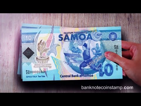 Samoa New 10$ Banknote - XVI Pacific Games 2019