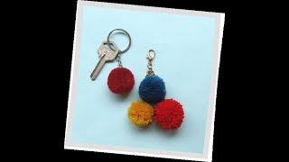 DIY Pom Pom key chain | Woolen/yarn  crafts