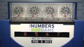 Midday Numbers Game Drawing: Thursday, February 9, 2012