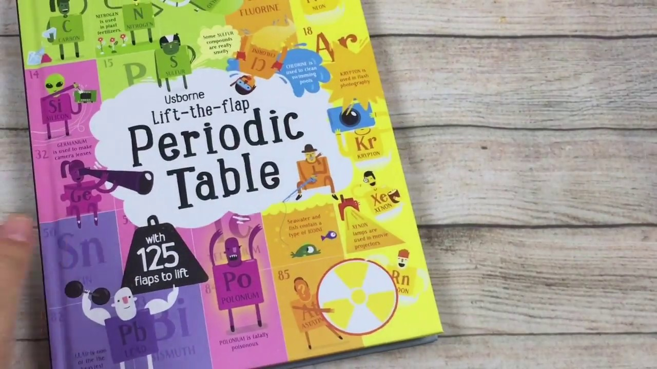 A Look Inside The Usborne Lift The Flap Periodic Table Book Youtube