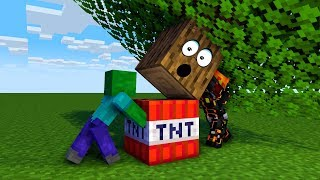 УБОЙНАЯ ЛОВУШКА-ДЕРЕВО - 1000 ЛОВУШЕК В МАЙНКРАФТ - ТРОЛЛИНГ 100 МУЛЬТИК  Minecraft