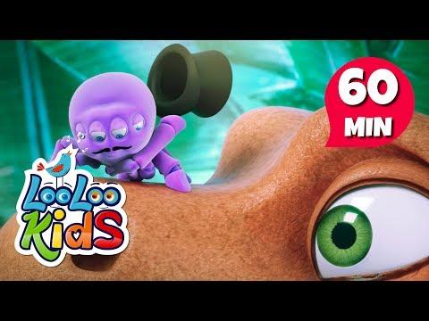 (Dinosaurs) Rain, Rain, Go Away - Great Songs for Children | LooLoo Kids