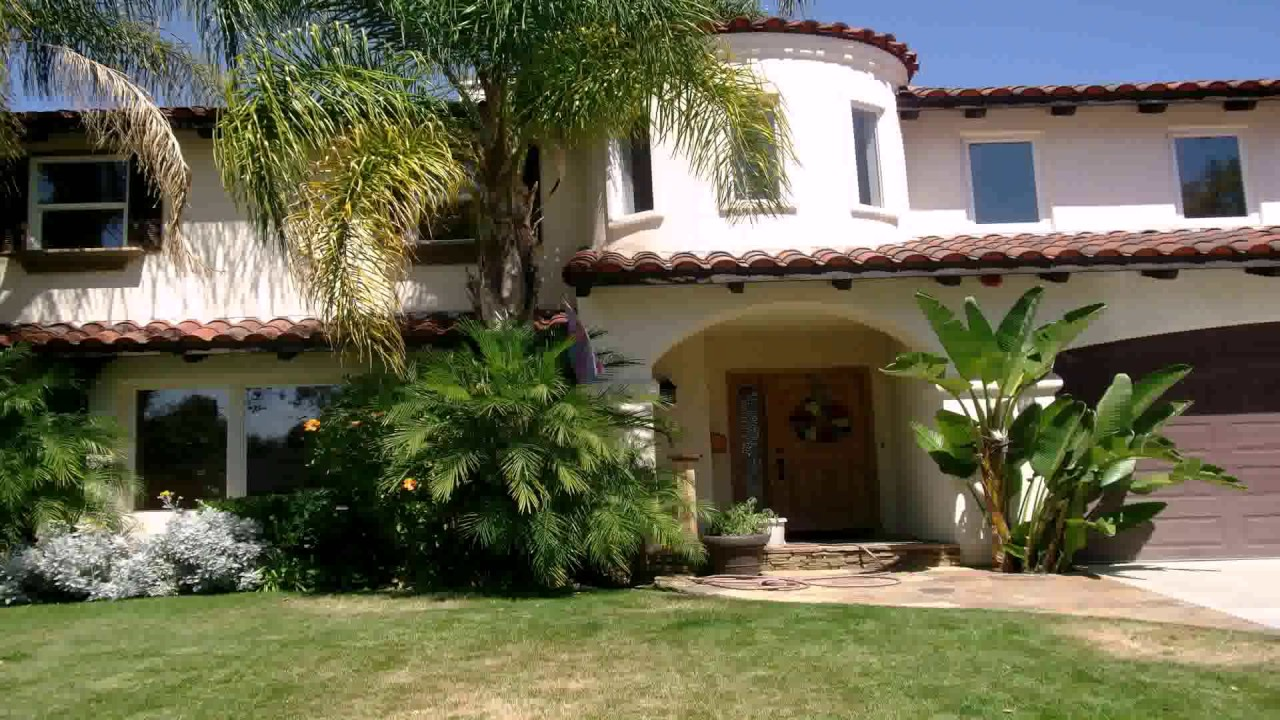 spanish style homes with garden Spanish Style House Garden - YouTube