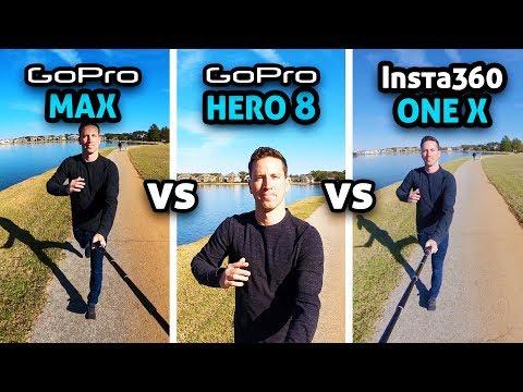 GoPro MAX Vs HERO 8 Vs Insta360 ONE X!