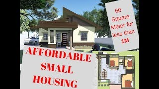 60 Square Meter Affordable Small Residential House
