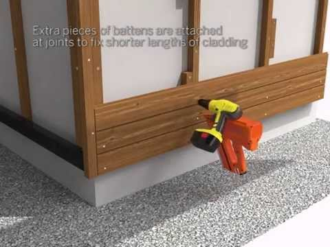 Mets 228 Wood Thermowood Horizontal Cladding Installation