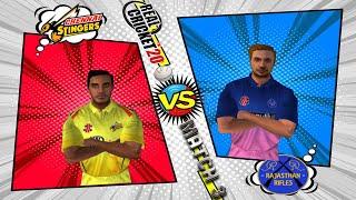 #3 Chennai Super Kings vs Rajasthan Royals - RCPL / IPL 2021 auction Edition Real Cricket 20 Live