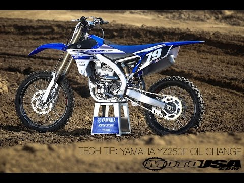 Tech Tip: Changing Oil On A Yamaha YZ250F - MotoUSA - YouTube