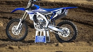 Tech Tip: Changing Oil On A Yamaha YZ250F - MotoUSA
