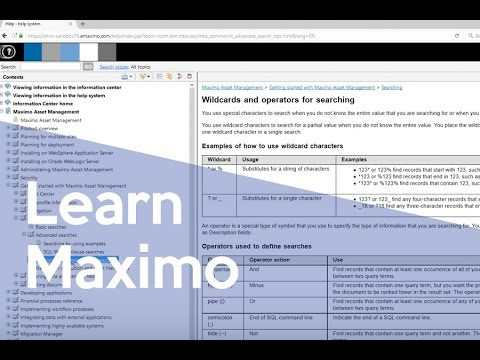 Searching & Querying in Maximo