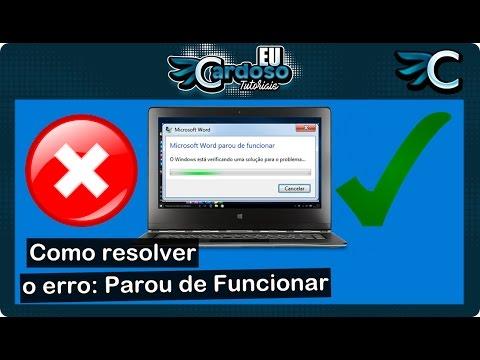 Download Como resolver o erro: Parou de funcionar (Funciona)  - [2021]