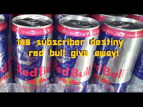 destiny 100 subscriber red bull code give away youtube