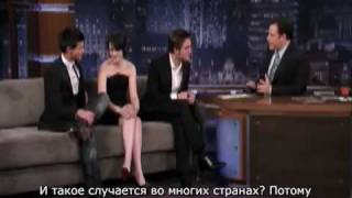 Звезды Новолуния у Джимми Киммела - 1 часть (Russian subtitles)