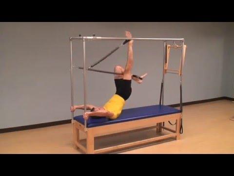 V Series Cadillac >> Pilates Cadillac Leg Springs Series - YouTube