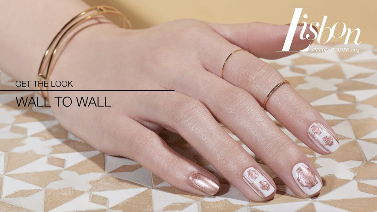 Nail Art Diy Tutorial Wall To Wall Opi Lisbon Collection Youtube
