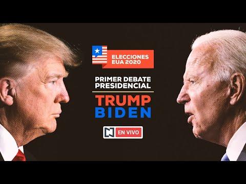 En vivo: Debate presidencial entre Donald Trump y Joe Biden