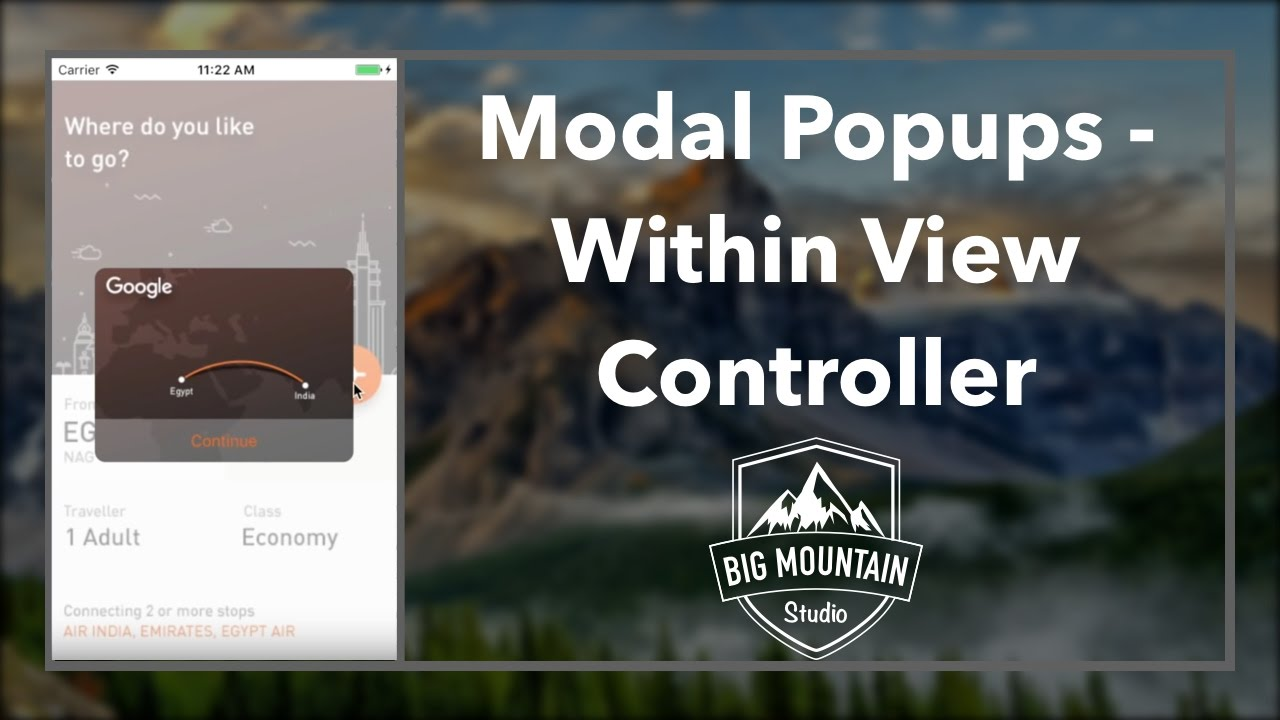Modal Popups Within A View Controller (iOS, Xcode 8, Swift 3)