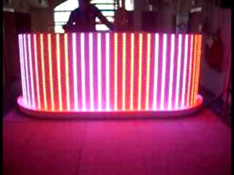 Dj Booth By Led Light Design Youtube