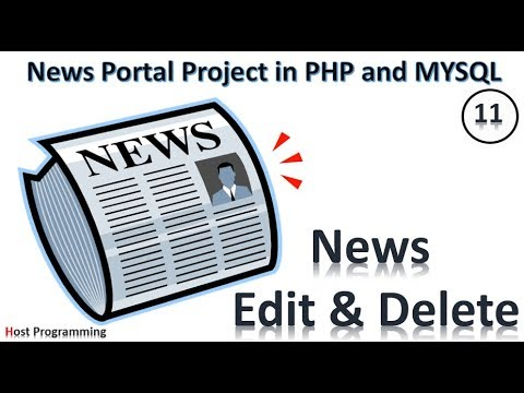 PHP And MySQL Project On Online News Portal - News Edit & Delete