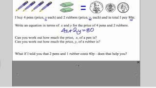 Simultaneous Equations 1 (GCSE Higher Maths): Tutorial 11