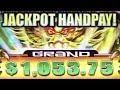★JACKPOT HANDPAY! TOP SCREEN!!★ MASSIVE BIG WIN! HAO YUN LONG (Aristocrat) Slot Machine Bonus