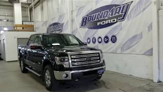 "Preowned 2014 Ford F-150 SuperCrew Lariat 145"" WB W/ Sunroof Overview 