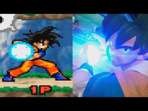 Evolution of Kamehameha in Jump Games 2005-2018