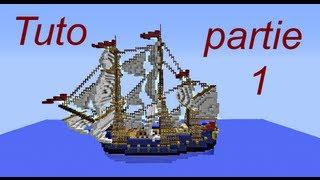 Minecraft - tutoriel bateau / Navire / vaisseau 1/7