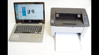 Unboxing and Wireless setup Samsung Xpress M2020W Compact Mono Laser Printer