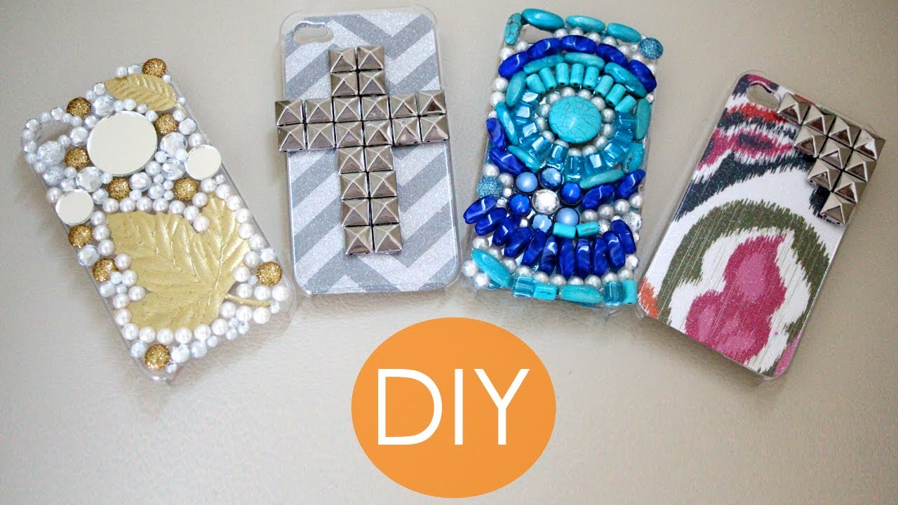 Diy fundas para telefono youtube - Como decorar una funda de movil ...
